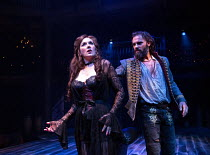 Alexandra Gilbreath (Angellica Bianca) and Joseph Millson (Willmore) in THE ROVER by Aphra Behn opening at the Swan Theatre, Stratford-upon-Avon, England  on 15/09/2016 a Royal Shakespeare Company (RS...
