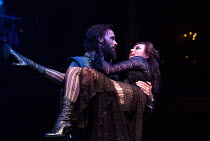 Joseph Millson (Willmore) and Alexandra Gilbreath (Angellica Bianca) in THE ROVER by Aphra Behn opening at the Swan Theatre, Stratford-upon-Avon, England  on 15/09/2016 a Royal Shakespeare Company (RS...