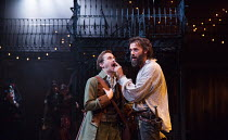 l-r: Leander Deeny (Blunt) and Joseph Millson (Willmore) in THE ROVER by Aphra Behn opening at the Swan Theatre, Stratford-upon-Avon, England  on 15/09/2016 a Royal Shakespeare Company (RSC) productio...