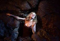 Lisa Dwan in NO'S KNIFE opening at the Old Vic Theatre, London SE1 on 03/10/2016 conceived by Lisa Dwan derived from 'Texts for Nothing' by Samuel Beckett design: Christopher Oram lighting: Hugh Vanst...