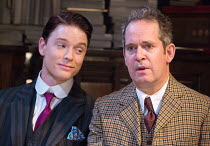 l-r: Freddie Fox (Tristan Tzara), Tom Hollander (Henry Carr) in TRAVESTIES by Tom Stoppard opening at the Menier Chocolate Factory, London SE1 on 04/10/2016 design: Tim Hatley lighting: Neil Austin di...