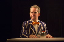Tom Hollander (Henry Carr) in TRAVESTIES by Tom Stoppard opening at the Menier Chocolate Factory, London SE1 on 04/10/2016 design: Tim Hatley lighting: Neil Austin director: Patrick Marber  Donald Coo...