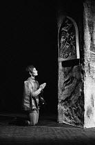 ST. JOAN by George Bernard Shaw set design: Patrick Robertson costumes: Rosemary Vercoe lighting: Geoffrey Mersereau director: John Neville   Judi Dench (St. Joan)  Nottingham Playhouse / Nottingham,...