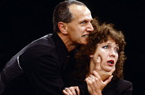 HAMLET by Shakespeare director: Steven Berkoff Steven Berkoff (Hamlet), Linda Marlowe (Gertrude) London Theatre Group / Roundhouse, London NW1  28/04/1980         Donald Cooper/Photostage   photos@pho...