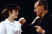 HAMLET by Shakespeare director: Steven Berkoff Chloe Salaman (Ophelia), Steven Berkoff (Hamlet)London Theatre Group / Roundhouse, London NW1  28/04/1980         Donald Cooper/Photostage   photos@photo...
