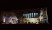 THE RED BARN by David Hare after the novel 'La Main' by Georges Simenon design: Bunny Christie lighting: Paule Constable director: Robert Icke stage,set,full,empty,interior,New,England,US,USA,America,...