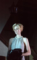 Elizabeth Debicki (Mona Sanders) in THE RED BARN by David Hare opening at the Lyttelton Theatre, National Theatre (NT), London SE1 on 17/10/2016 after the novel 'La Main' by Georges Simenon design: Bu...