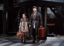 Riya Vyas (Little Girl), Gary Tushaw (Tateh) in RAGTIME opening at the Charing Cross Theatre, London WC2 on 17/10/2016 based on the novel by E.L Doctorow music: Stephen Flaherty book: Terrence McNally...