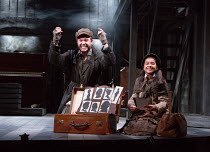 Gary Tushaw (Tateh), Riya Vyas (Little Girl) in RAGTIME opening at the Charing Cross Theatre, London WC2 on 17/10/2016 based on the novel by E.L Doctorow music: Stephen Flaherty book: Terrence McNally...
