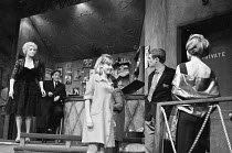 FILL THE STAGE WITH HAPPY HOURS by Charles Wood design: Patrick Robertson director: Patrick Dromgoole   l-r: Barbara Jefford (Maggie Harris), Ronald Magill (Bunny), Diane Clare (Audrey Brown), Alan Do...