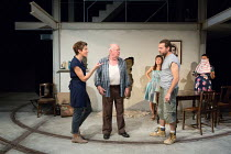THE INTELLIGENT HOMOSEXUAL'S GUIDE TO CAPITALISM AND SOCIALISM WITH A KEY TO THE SCRIPTURES or iHo by Tony Kushner  design: Tom Piper lighting: Wolfgang Goebbel director: Michael Boyd   l-r: Tamsin Gr...