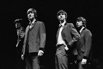 JOHN, PAUL, GEORGE, RINGO ... and BERT by Willy Russell original 1974 Liverpool Everyman production directed by Alan Dossor l-r: Lloyd Johnston (George), Stephen Mackenna (John), Nigel Hughes (Paul),...