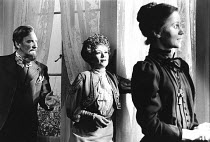 THE CHERRY ORCHARD by Chekhov design: Kenneth Mellow   costumes: Mark Negin lighting: Andy Phillips director: Lindsay Anderson   l-r: Leslie Phillips (Gayev), Joan Plowwright (Madame Ranevskaya), Joan...