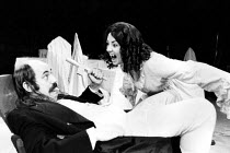 DRACULA   Richard Ireson (Crebbs), Judy Holt (Lucy)) LO-RES FOR REFERENCE AND SELECTION PURPOSES ONLY: HI-RES OF THIS AND OTHER IMAGES AVAILABLE TO ORDER Half Moon Theatre, London E1  23/11/1984...