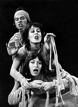 THE DUCHESS OF MALFI by John Webster ~front: Dinah Stabb~LO-RES FOR REFERENCE AND SELECTION PURPOSES ONLY: HI-RES OF THIS AND OTHER IMAGES AVAILABLE TO ORDER~Freehold / Young Vic, London SE1 06/10/197...