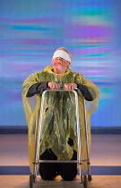 Dover Beach: Karl Johnson (Gloucester - blinded) in KING LEAR by Shakespeare opening at the Old Vic, London SE1 on 04/11 2016 design: Jean Kalman & Deborah Warner associate set design: Justin Nardella...