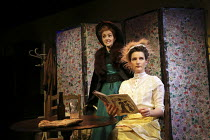 l-r: Sara Griffiths (Madame X), Alice Frankham (Mlle Y) in STRONGER by August Strindberg opening at the Jermyn Street Theatre, London SW1 on 07/11/2016   part of STRINDBERG'S WOMEN 2 plays by August S...