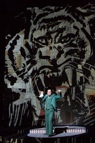 David Soar (Animal Tamer) in LULU by Alban Berg opening at English National Opera (ENO), London Coliseum WC2 on 09/11/2016 ~after 'Erdgeist' & 'Die Busche der Pandora' by Frank Wedekind conductor: Mar...