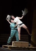 Michael Colvin (Painter), Brenda Rae (Lulu) in LULU by Alban Berg opening at English National Opera (ENO), London Coliseum WC2 on 09/11/2016 ~after 'Erdgeist' & 'Die Busche der Pandora' by Frank Wedek...