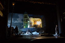 AN INSPECTOR CALLS by J B Priestley design: Ian MacNeil lighting: Rick Fisher director: Stephen Daldry   the house explodes National Theatre (NT) 1992 production / revived at the Playhouse Theatre,...
