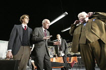 THE HISTORY BOYS by Alan Bennett design: Bob Crowley lighting: Mark Henderson director: Nicholas Hytner ~~l-r: Stephen Campbell Moore (Irwin), Clive Merrison (Headmaster), Samuel Anderson (Crowther),...