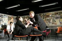 THE HISTORY BOYS by Alan Bennett design: Bob Crowley lighting: Mark Henderson director: Nicholas Hytner   l-r: Sacha Dhawan (Akthar), Dominic Cooper (Dakin), James Corden (Timms) Lyttelton Theatre,...