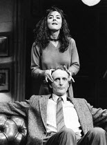 THE PHILANTHROPIST by Christopher Hampton director: Kevin Billington Hugh Fraser (Philip) Mobil Touring Theatre production 1986       Donald Cooper/Photostage   photos@photostage.co.uk   ref/BW-136-26