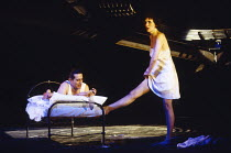 MACHINAL by Sophie Treadwell set design: Ian MacNeil costumes: Clare Mitchell lighting: Rick Fisher director: Stephen Daldry   Ciaran Hinds (Man), Fiona Shaw (Young Woman) Lyttelton Theatre, National...