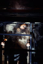 MACHINAL by Sophie Treadwell set design: Ian MacNeil costumes: Clare Mitchell lighting: Rick Fisher director: Stephen Daldry   executed: Fiona Shaw (Young Woman) Lyttelton Theatre, National Theatre (N...