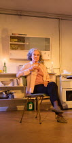 Francesca Annis (Rose) in THE CHILDREN by Lucy Kirkwood opening at the Jerwood Theatre Downstairs, Royal Court Theatre, London SW1 on 24/11/2016   design: Miriam Buether lighting: Peter Mumford direct...