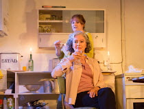 (front) Francesca Annis (Rose), Deborah Findlay (Hazel) in THE CHILDREN by Lucy Kirkwood opening at the Jerwood Theatre Downstairs, Royal Court Theatre, London SW1 on 24/11/2016   design: Miriam Bueth...