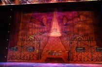 ALADDIN  written by Joel Horwood  set design: Oliver Townsend  costumes: Jean Chan  lighting: Tim Deiling  director: Ellen McDougall cloth,painted,panto,pantomimeLyric Hammersmith, London, W6 0QL  26/...