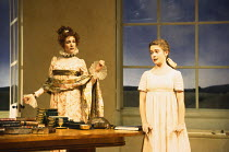 ARCADIA   by Tom Stoppard   design: Mark Thompson   lighting: Paul Pyant   director: Trevor Nunn ~~l-r: Harriet Walter (Lady Croom), Emma Fielding (Thomasina Coverly)~Lyttelton Theatre, National Theat...