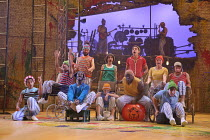 the Lost Boys in PETER PAN by J.M.Barrie opening at the Olivier Theatre, National Theatre (NT), London SE1 on 02/12/2016 a co-production with Bristol Old Vic / devised by the company dramaturg: Mike A...
