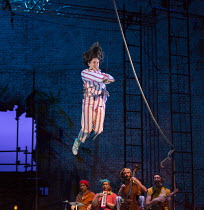 Madeleine Worrall (Wendy) in PETER PAN by J.M.Barrie opening at the Olivier Theatre, National Theatre (NT), London SE1 on 02/12/2016 a co-production with Bristol Old Vic / devised by the company drama...