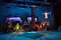 front left: Paul Hilton (Peter Pan)  right: Madeleine Worrall (Wendy) in PETER PAN by J.M.Barrie opening at the Olivier Theatre, National Theatre (NT), London SE1 on 02/12/2016 a co-production with Br...