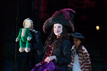 Anna Francolini (Hook) in PETER PAN by J.M.Barrie opening at the Olivier Theatre, National Theatre (NT), London SE1 on 02/12/2016 a co-production with Bristol Old Vic / devised by the company dramatur...
