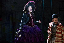 Anna Francolini (Hook), Felix Hayes (Smee) in PETER PAN by J.M.Barrie opening at the Olivier Theatre, National Theatre (NT), London SE1 on 02/12/2016 a co-production with Bristol Old Vic / devised by...