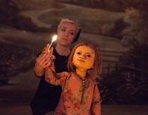 Edie Edmundson (puppeteer - The Little Matchgirl) in THE LITTLE MATCHGIRL and Other Happier Tales by Hans Christian Andersen opening at the Sam Wanamaker Playhouse, Shakespeare's Globe, London SE1 on...