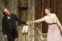 Geoffrey Streatfeild (Platonov), Justine Mitchell (Ana Petrovna) in WILD HONEY by Michael Frayn opening at the Hampstead Theatre, London NW3 on 08/12/2016 based on Chekhov's 'Play Without a Name'  des...