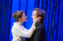 Justine Mitchell (Ana Petrovna), Geoffrey Streatfeild (Platonov) in WILD HONEY by Michael Frayn opening at the Hampstead Theatre, London NW3 on 08/12/2016 based on Chekhov's 'Play Without a Name'  des...