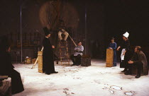 THE CAUCASIAN CHALK CIRCLE by Bertolt Brecht translated by James & Tania Stern with W.H. Auden design: Chris Dyer lighting: Brian Wigney director: John Caird   centre: Hugh Fraser (Governor), Kenny Ir...