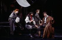 MOTHER COURAGE AND HER CHILDREN by Bertolt Brecht set design: John Napier costumes: Lindy Hemming lighting: David Hersey director: Howard Davies  l-r: Judi Dench (Mother Courage), Paul Greenwood (Rec...