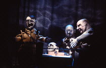 SCHWEYK IN THE SECOND WORLD WAR   by Bertolt Brecht   set design: William Dudley   costumes: Lindy Hemming   lighting: William Bundy   director: Richard Eyre   puppets - left: Adolf Hitler  with gener...