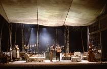 WILD HONEY by Chekhov in a version by Michael Frayn set design: John Gunter costumes: Deirdre Clancy lighting: Robert Bryan director: Christopher Morahan centre, l-r; Karl Johnson (Dr Triletzky), Pete...