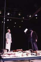 ROSMERSHOLM by Henrik Ibsen design: Jenny Tiramani lighting: Jon Linstrum director: Annie Castledine   l-r: Corin Redgrave (John Rosmer), Leo Wringer (Mortensgaard)  The Young Vic, London SE1  23/0...