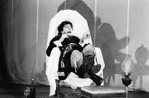 BLOODY POETRY by Howard Brenton set design: Poppy Mitchell costumes: Sheelagh Killeen lighting: Richard Moffatt director: Roland Rees James Aubrey (George Byron)a Foco Novo & Leicester Haymarket co-pr...