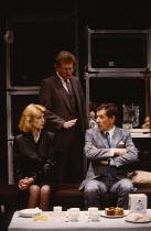 HENCEFORWARD by Alan Ayckbourn design: Roger Glossop lighting: Mick Hughes director: Alan Ayckbourn   l-r: Jane Asher (Corinna), Michael Simkins (Mervyn), Ian McKellen (Jerome)  Vaudeville Theatre, Lo...