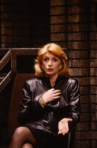 HENCEFORWARD by Alan Ayckbourn design: Roger Glossop lighting: Mick Hughes director: Alan Ayckbourn Jane Asher (Corinna)Vaudeville Theatre, London WC2  16/11/1988                       Donald Cooper/P...