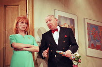 THINGS WE DO FOR LOVE written & directed by Alan Ayckbourn design: Roger Glossop lighting: Mick Hughes Jane Asher (Barbara), Barry McCarthy (Gilbert) Gielgud Theatre, London W1  03/03/1998...